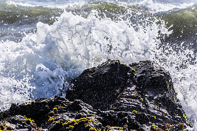 Photograph - California Coast Wave Crash 4 by Randy Bayne