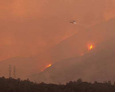 Cal State Photograph - Cal Fire Copter 406 Curry Canyon Ca by Troy Montemayor