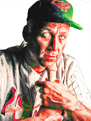 Cal Ripken Photograph - Cal Ripken Jr Digitally Painted 3 by David Haskett