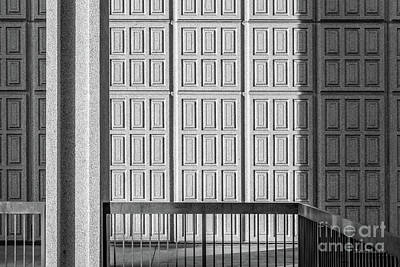 Cal State Photograph - Cal State Northridge Oviatt Library Detail  by University Icons