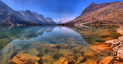 Photograph - Cal Waters At St Mary Lake by Adam Jewell