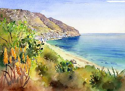 Aloe Vera Painting - Cala De San Pedro by Margaret Merry