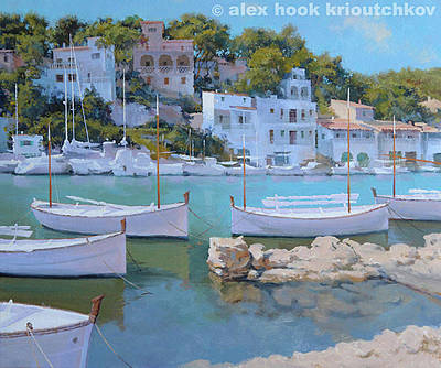 Painting - Cala Figuera 32 by Alex Hook Krioutchkov