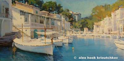 Painting - Cala Figuera Xiv by Alex Hook Krioutchkov