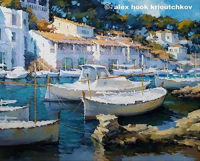 Painting - Cala Figuera Xix by Alex Hook Krioutchkov