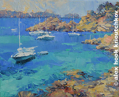 Painting - Cala Fornels IIi by Alex Hook Krioutchkov
