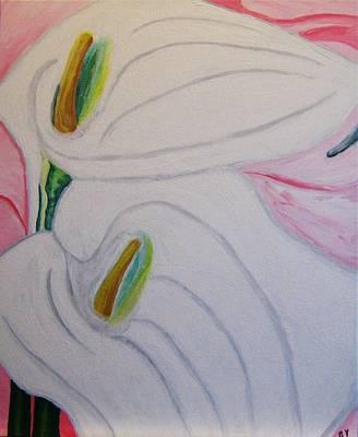 Cala Lillies Art Print by Barbara Yearty