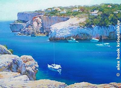Painting - Cala Llombards by Alex Hook Krioutchkov