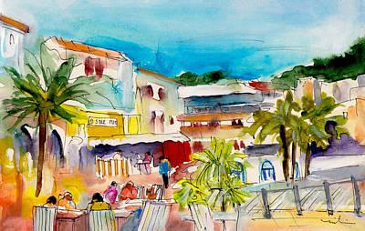 Painting - Cala Ratjada Town by Miki De Goodaboom