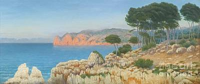 Vicente Painting - Cala San Vicente by MotionAge Designs