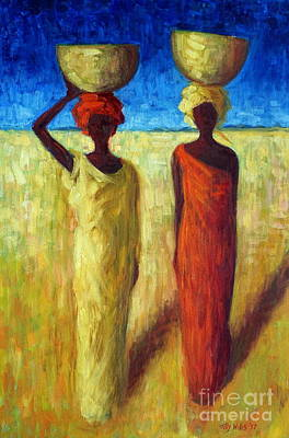 Two Heads Painting - Calabash Cousins by Tilly Willis