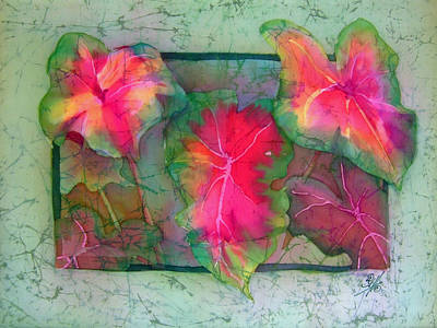 Painting - Caladiums 4 by Deborah Younglao