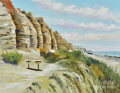 Painting - Calafia Beach Trail by Mary Scott
