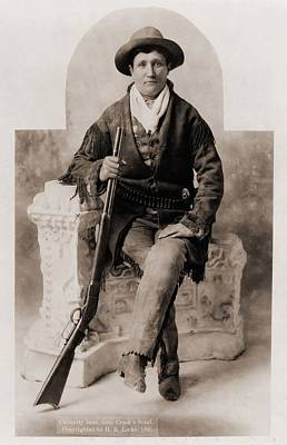 Calamity Jane 1852-1903, Was A Scout Art Print by Everett