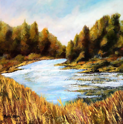 Painting - Calapooia River by Marti Green