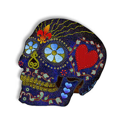 Digital Art - Calavera Del Azucar by Iowan Stone-Flowers