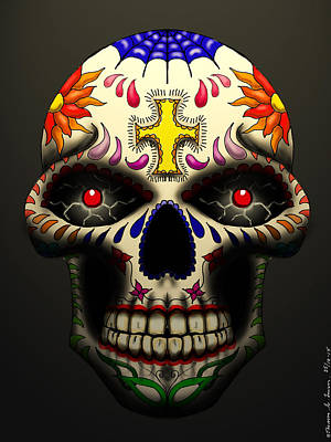 Painting - Calavera#1 by ThomasE Jensen
