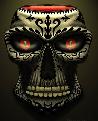 Painting - Calavera#2 by ThomasE Jensen