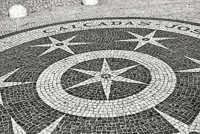 Photograph - Calcadas Jose Da Rosa - Street Paving Mosaic Lisbon by Menega Sabidussi