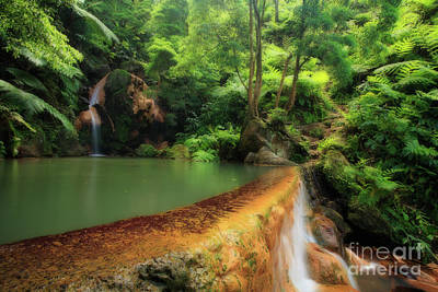 Natural Pool Photograph - Caldeira Velha - Azores Islands by Gaspar Avila