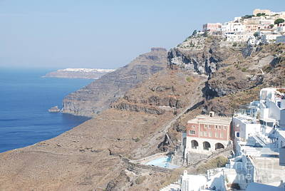 Island Photograph - Caldera Cliffs On Santorini Island by Just Eclectic