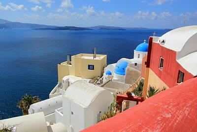 Photograph - Caldera, Oia, Santorini, Greece by Elenarts - Elena Duvernay photo