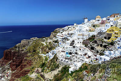 Photograph - Caldera View Of Oia, Santorini, Greece by Global Light Photography - Nicole Leffer
