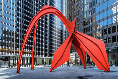 Photograph - Calder's Flamingo by Randy Scherkenbach
