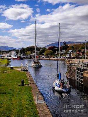 Caledonian Canal Photograph - Caledonian Canal Scotland by Lynn Bolt