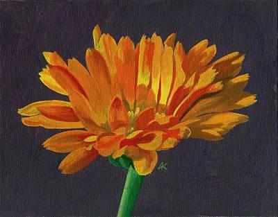 Wall Art - Painting - Calendula Flower by Arlene Kelley