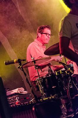 Photograph - Calexico Live - John Convertino by Andrea Mazzocchetti