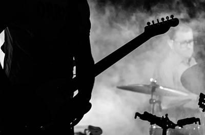 Guitars Photograph - Nubes - Calexico Live - John Convertino - Jairo Zavala by Andrea Mazzocchetti