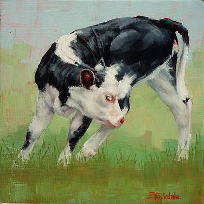 Painting - Calf Contortions by Margaret Stockdale