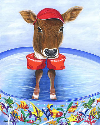 Calf Days Of Summer Original by Twyla Francois
