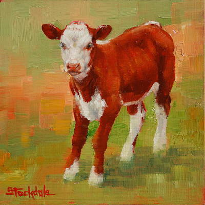Painting - Calf Miniature by Margaret Stockdale
