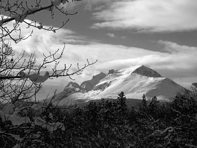 Photograph - Calf Robe Mountain In Winter, Black And White by Tracey Vivar