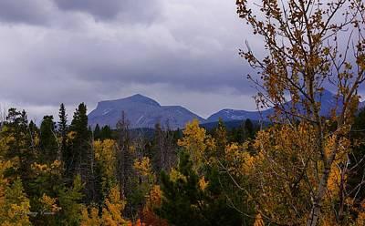 Photograph - Calf Robe Mountain With Autumn Foliage by Tracey Vivar