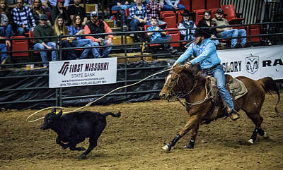Photograph - Calf Roper On Target by Jeff Kurtz