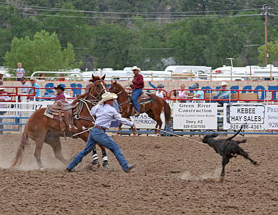 Photograph - Calf Ropin' by Joel Gilgoff