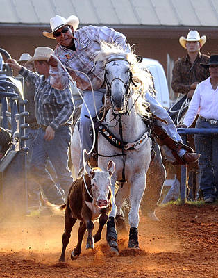 Photograph - Calf Roping by Keith Lovejoy