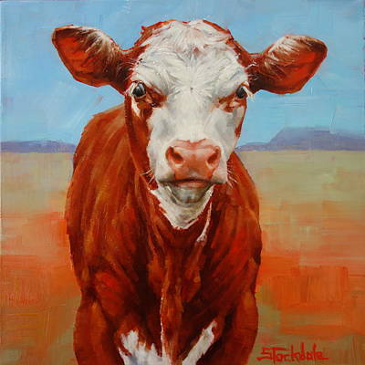 Painting - Calf Stare by Margaret Stockdale