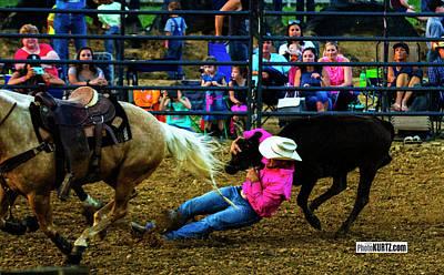 Photograph - Calf Wrestling by Jeff Kurtz