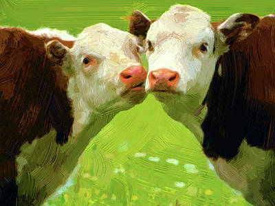 Calfs Art Print