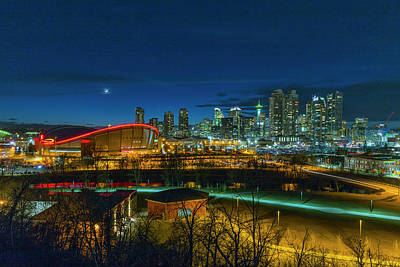 Photograph - Calgary At Twilight by Josef Pittner