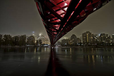Calgary Photograph - Calgary Peace Bridge by Helder Martins