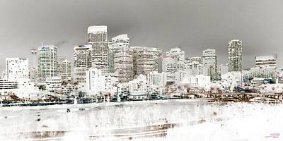 Calgary Skyline 3 Art Print by Stuart Turnbull