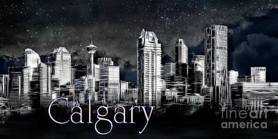 Photograph - Calgary Skyline Art by Brad Allen Fine Art