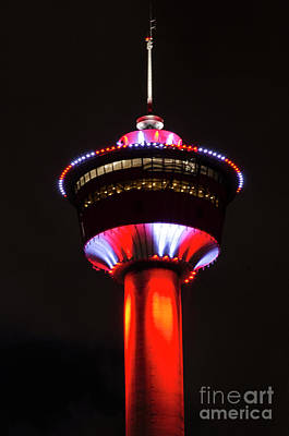 Photograph - Calgary Tower Canada 150 by Bob Christopher