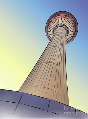 Photograph - Calgary Tower by Dee Cresswell