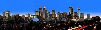 Calgarys Skyline Art Print by Richard Wear